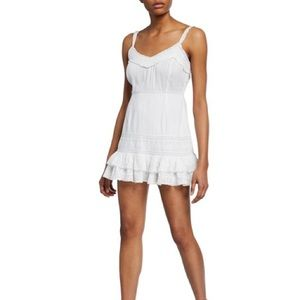 LoveShackFancy Tallulah Ruffled Dress 8 White Lace